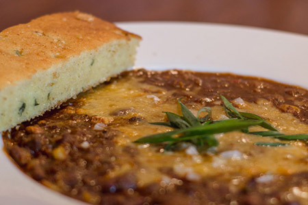 Chicken Chili with Jalapeno Corn Bread - Norm's of Yakima - Yakima Restaurant and Pub